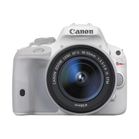 "Canon EOS Rebel SL1 DSLR Camera with EF-S 18-55mm f/3.5-5.6 IS STM Lens, 18MP, 3"" Touchscreen LCD, Full HD 1080 Video - White"
