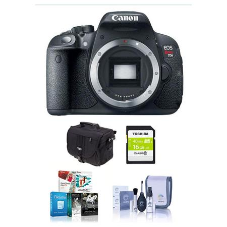 Canon EOS Rebel T5i Digital SLR Camera Body - Bundle - with 16GB SDHC Memory Card, Camera Carrying Case - With Special Professional Software Package (Includes Corel PaintShop Pro X7, Corel AfterShot Pro 2, Nuance OnmiPage 18, FileCenter Standard 7)