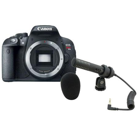 Canon EOS Rebel T5i DSLR Camera, 18MP, - Bundle with Audio-Technica Pro-24CM Stereo Condenser Microphone with Camera Shoe Mount