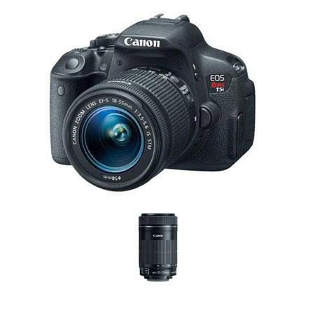 Canon EOS Rebel T5i DSLR Camera with 18-55mm IS STM Lens - Bundle - with Canon EF-S 55-250mm f/4-5.6 IS STM Lens