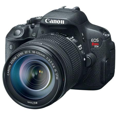 "Canon EOS Rebel T5i DSLR Camera with EF-S 18-135mm f/3.5-5.6 IS STM Lens, 18MP, 3.0"" Touchscreen LCD, Full HD 1080p Video"