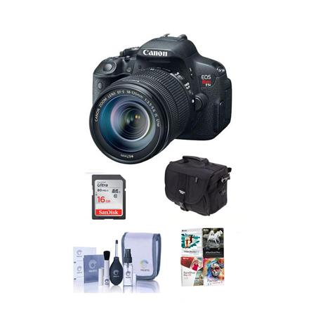 Canon EOS T5i Digital SLR Camera with EF-S 18-135mm f/3.5-5.6 IS STM Lens - Bundle - with 16GB SDHC Memory Card, Camera Carrying Case