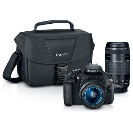 Canon EOS Rebel T5 Digital SLR Camera 2 Lens Kit with EF S 18 55mm f/3.5 5.6 IS II Lens, and EF 75 300mm F/4 5.6 III Lens