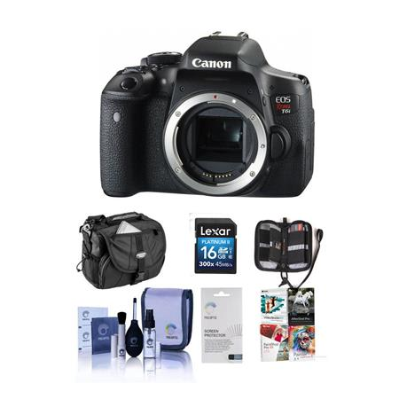 Canon EOS Rebel T6i DSLR Camera Body, - Bundle With Camera Case, 16GB Class 10 SDHC Card, Cleaning Kit, Screen Protector, Card Wallet, Digital Organization Creativity Suite, Pro Edition for Win (Includes Corel PaintShop Pro X7, Corel AfterShot Pro 2, Nuance OnmiPage 18, FileCenter Standard 7)