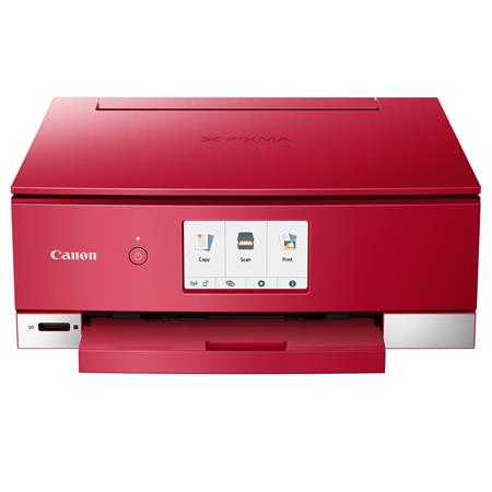 Canon PIXMA TS8220 Wireless Office All-In-One Printer, Red