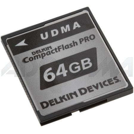 Delkin 64GB CompactFlash PRO UDMA 420X Memory Card image