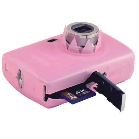 Delkin Snug-It, Silicone Digital Camera Skin for the Canon SD890, & Ixus 970 Pink, with Neck & Wrist Straps