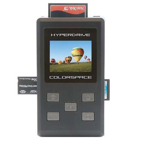 Sanho HyperDrive ColorSpace 160 GB Photo Backup Storage & Viewer, Supports 18 Memory Card Formats image