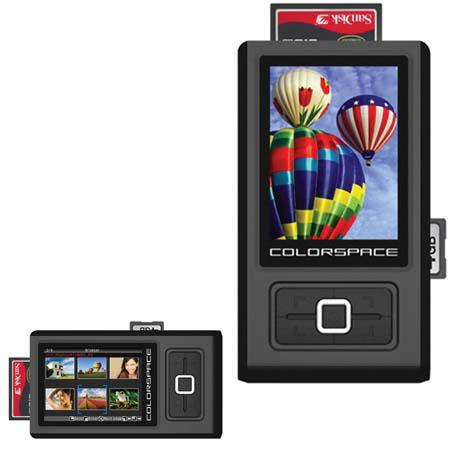 "Sanho HyperDrive ColorSpace ""O"" 80 GB Photo Backup Storage & Viewer with 3.2"" LCD, Supports 11 Memory Card Formats image"