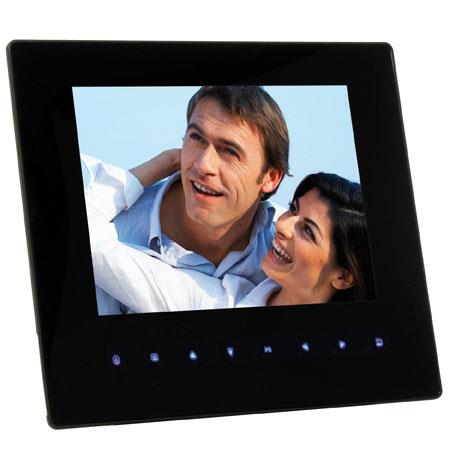 "Jobo 8.0"" Ultra Slim Nano Pro Digital Back Lit Photo Frame, 800x600 Pixels Resolution, Dual-Mini-USB 2.0, 4:3 Aspect Ratio, Card Slots for SD, MMC, SDHC &a"