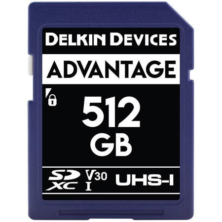 Delkin Devices Advantage 512GB UHS-I Class 10 U3 V30 SDXC 633x Memory Card