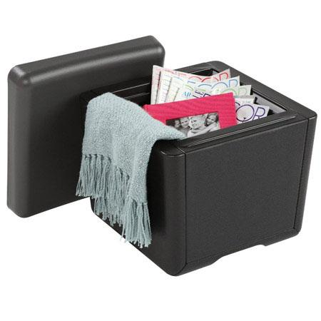 ice64531 ottoman seating and storage solution 18w x 18d