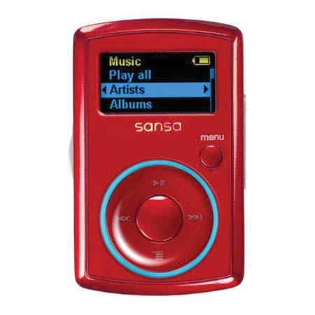 SanDisk Sansa Clip Series 2 GB MP3 Player, Red image