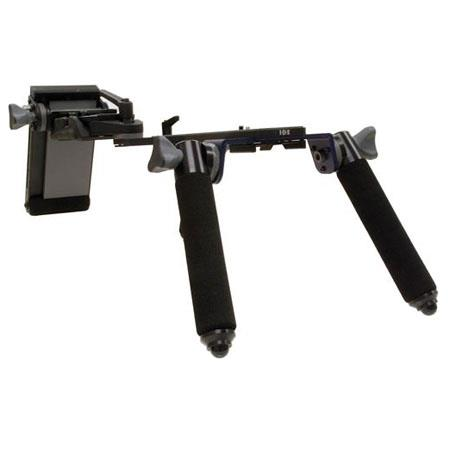 IDX A-CA74E Shoulder Adaptor, Cushioned Shoulder Pad, Supports Third-party Rail Systems, Still Cameras and Handheld Camcorders