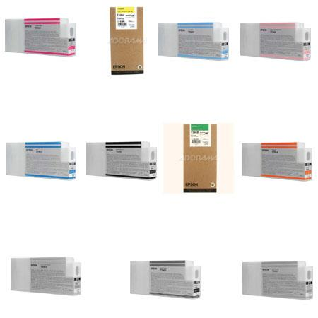 Epson Complete 350ml Ink Cartridge Set for 7900 / 9900 Printers