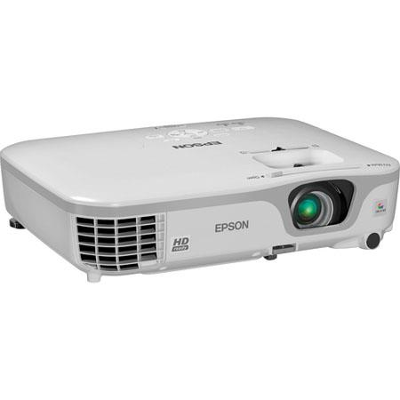 Epson PowerLite Home Cinema 710HD Home Theater Projector, 2800 Lumens Brightness, WXGA (1280 x 800) Resolution, 3000:1 Contrast Ratio,