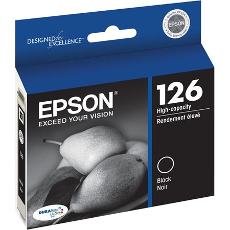 Epson T126120 High Capacity Black Ink Cartridge, for T126 Series and Other Select Printers