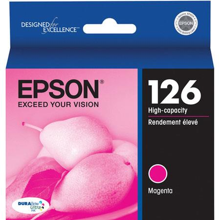 Epson T126320 126 High-Capacity Magenta Ink Cartridge for Workforce 520, 630, 633 and 635 Printers