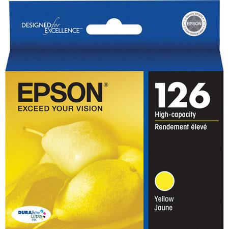 Epson T126420 126 High-Capacity Yellow Ink Cartridge for Workforce 520, 630, 633 and 635 Printers