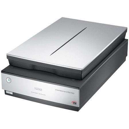 "Epson Perfection V750-M Pro Photo Flatbed Scanner, 4800 x 9600 dpi, 48 bit, built-in 8"" x 10"" Transparency Unit, USB 2.0 & FireWire image"