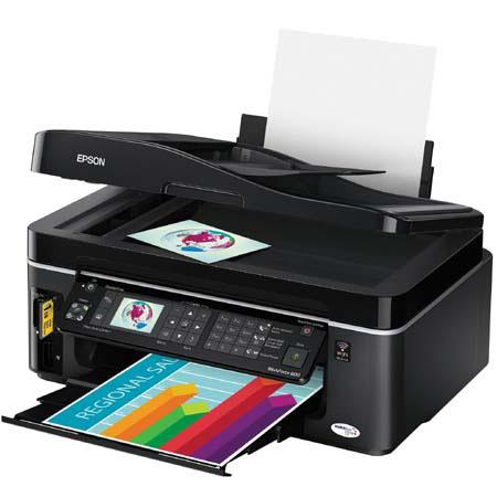 Epson WorkForce 600 All-in-One Color Inkjet Printer, Copier, Flatbed Scanner & Fax, with WiFi & USB Interface image