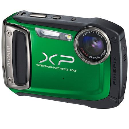 "Fujifilm FinePix XP100 14MP Waterproof (10m) Digital Camera, 5x Optical Zoom, 2.7"" LCD Screen, 1080p HD Movie Recording, Green"