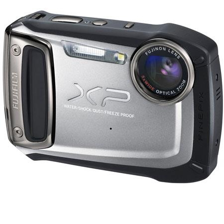 "Fujifilm FinePix XP100 14MP Waterproof (10m) Digital Camera, 5x Optical Zoom, 2.7"" LCD Screen, 1080p HD Movie Recording, Silver"