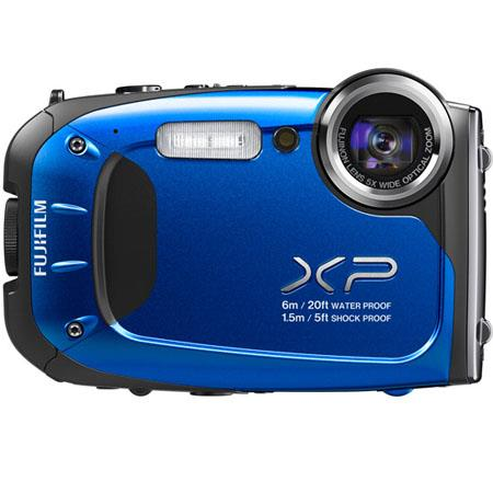"Fujifilm FinePix XP60 Waterproof Digital Camera, 16.4 MP, 1/2.3"" CMOS, 2.7"" LCD, 5x Optical Zoom, 1920 x 1080 pixels HD Movie Recording, Blue"