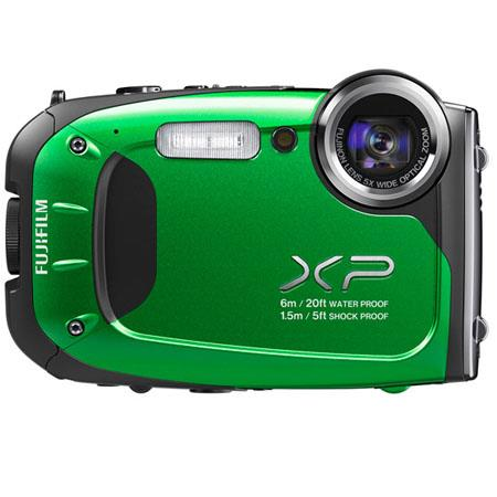 "Fujifilm FinePix XP60 Waterproof Digital Camera, 16.4 MP, 1/2.3"" CMOS, 2.7"" LCD, 5x Optical Zoom, 1920 x 1080 pixels HD Movie Recording, Green"