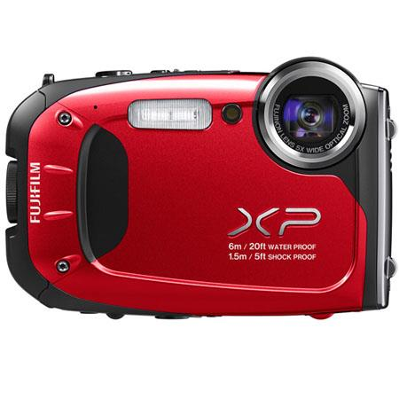 "Fujifilm FinePix XP60 Waterproof Digital Camera, 16.4 MP, 1/2.3"" CMOS, 2.7"" LCD, 5x Optical Zoom, 1920 x 1080 pixels HD Movie Recording, Red"
