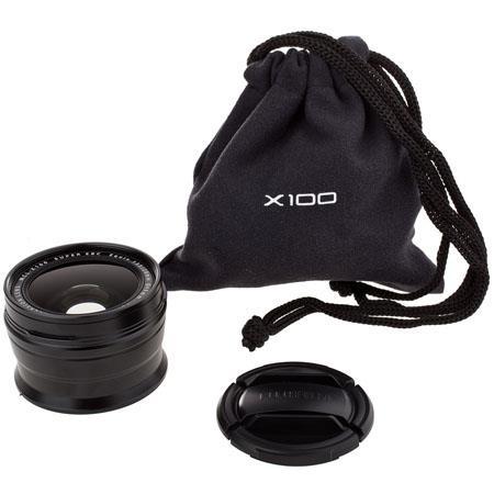 Fujifilm WCL-X100 0.8x Wide Conversion Lens for X100 Digital Camera - Black