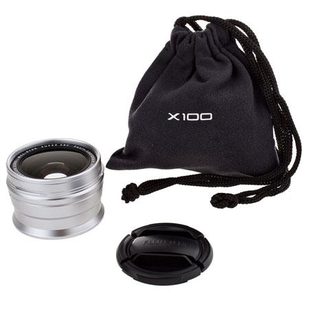 Fujifilm WCL-X100 0.8x Wide Conversion Lens for X100 Digital Camera - Silver