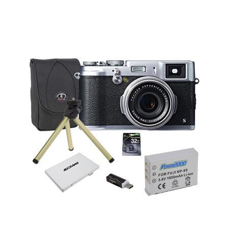 Fujifilm X100S Digital Black/Silver Camera, 16.3 Megapixel - Bundle