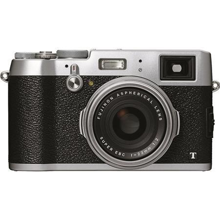 Fujifilm X100T Digital Camera Silver, 16.3MP, Hybrid Viewfinder, 23mm F/2 Lens, 6 FPS, 3