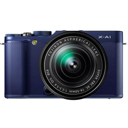 "Discount Electronics On Sale Fujifilm X-A1 Mirrorless Digital Camera with 16-50mm Lens, 16.3MP, 3"" 920k-Dot Tilting LCD Monitor, Full HD 1080p Video, USB 2.0, HDMI, Indigo Blue"