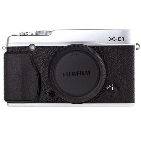 Fujifilm X-E1 Mirrorless Digital Camera Body, 16.3 MP APS-C X-Trans CMOS Sensor, Compact Magnesium Body, Built-In Flash - Silver