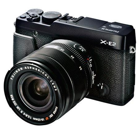 Fujifilm X-E2 Mirrorless Digital Camera Kit with XF 18-55mm F2.8-4 R LM OIS Lens - Black