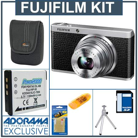 Fujifilm XF1 Digital Camera, 12MP, 4x Optical / 2x Digital Zoom, Black - Bundle - with SanDisk 16GB Ultra SDHC UHS-I Memory Card, USB 2.0 Secure Digital & M