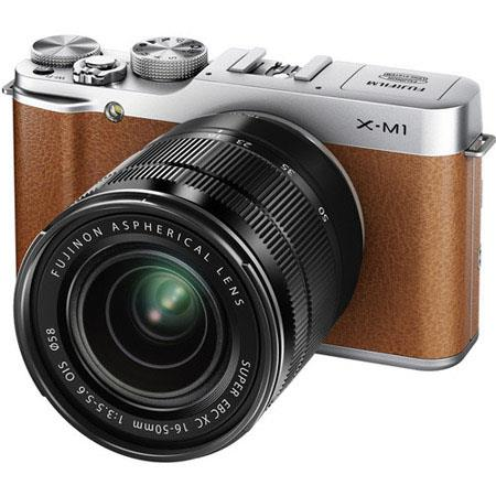 Fujifilm X-M1 Mirrorless Digital Camera Body with XC 16-50mm F3.5-5.6 OIS Lens - Brown