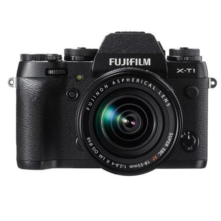 "Fujifilm X-T1 Mirrorless Digital Camera, Black - with 18-55mm Lens, 16.3MP, Full HD 1080p Video at 60 fps, 3"" 1040k-Dot Tilting LCD, Wi-Fi, Weather Resistant"