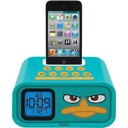 Ihome Disney Phineas and Ferb Dual Alarm Clock Speaker System for iPod