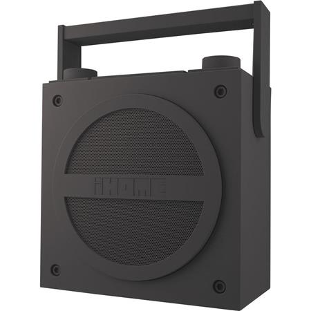 iHome iBN4 Bluetooth Wireless Rechargeable Boombox with FM Radio, Aux-in jack