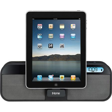 iHome iD28 App-Enhanced Portable Alarm Clock Radio for iPad, iPhone and iPod