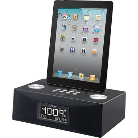 iHome App-Enhanced Dual Alarm Clock Radio for iPad/iPhone/iPod