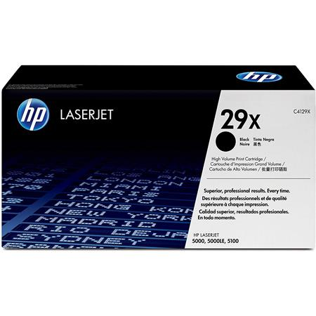 Hewlett Packard - HP C4129X High Yield LaserJet Black Family Print Cartridge for the HP LaserJet 5000 and 5100 Printer Series (Yield: Appx. 10,000 Copies) image