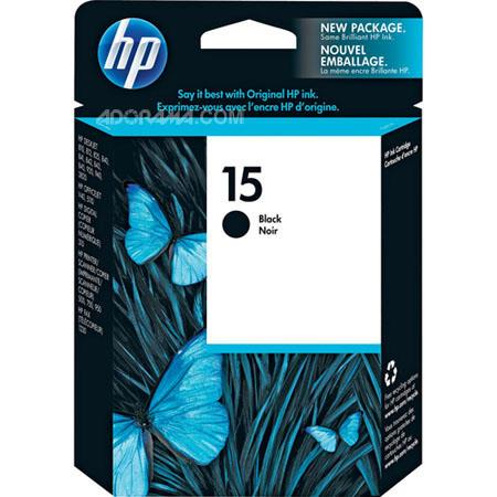 HP #15 Black Ink Cartridge for the 310 Digital Copier, Printer/Scanner/Copier ( PSC Series ) 500, 700 & 900 and OfficeJet V Series