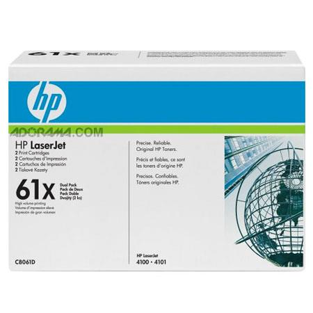 HP C8061D Black Print, C8061X Dual Pack of Cartridges for Select HP Laserjet Printers (Yield: Appx 10,000 Copies each)