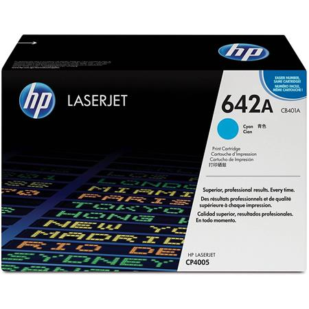 HP CB401A Color LaserJet Cyan Print Cartridge for HP Color LaserJet CP4005 Printer series (Yield: Apprx 7,500 Copies)