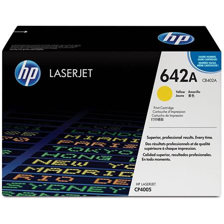 HP CB402A Color LaserJet Yellow Print Cartridge for HP Color LaserJet CP4005 Printer series (Yield: Apprx. 7,500 Copies)