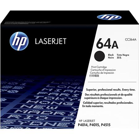 HP CC364A Standard LaserJet Black Print Cartridge for HP LaserJet P4014 and P4015 Printer Series (Yield: Appx. 10,000 Copies)